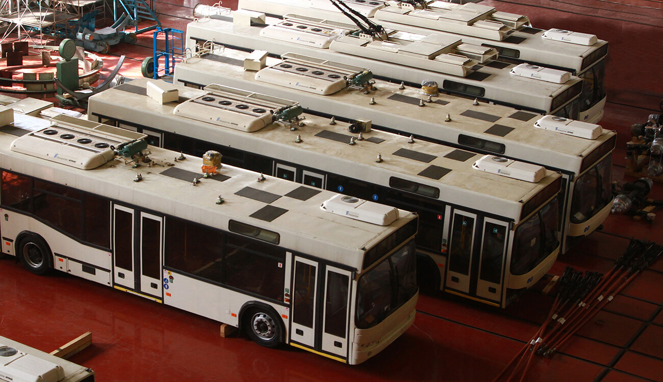 YUZHMASH started the SKD assembly of trolleybuses