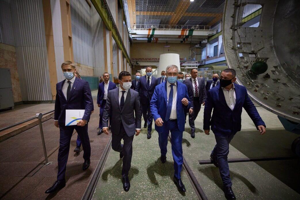 The visit of the President of Ukraine Volodymyr Zelensky to YUZHMASH